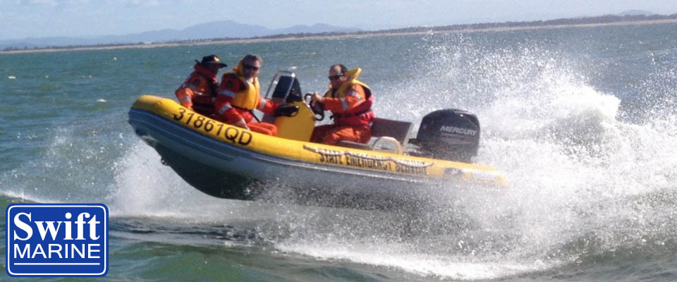 swift aluminium rib inflatable boat gold coast ses coast guard patrol